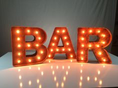 "Mini Vintage Marquee Lights - 12"" - Choose any letter. $159.00, via Etsy."