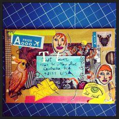 mail art by Fennabee (2014). More @ http://fennabee.wordpress.com