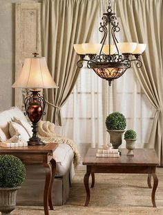 French vintage living room.    #lampsplus and #mystyle