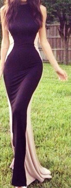 Silhouette illusion dress // Love!