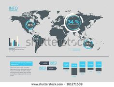 World map vector infographic template arte grfica pinterest set of world map and infographics elements buy this stock vector on shutterstock find other images gumiabroncs Images