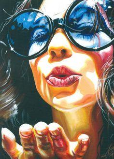 Artist: Steve Smith ~ 'Dandelion' ~ Acrylic on canvas ~ 2006 ~