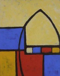 """Saatchi Online Artist robert Alexander; Painting, """"À la Mondrian"""" #art"""