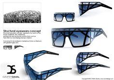 Structure eyewears Le design est agressif et futuriste, inspiré par des constructions techniques et d'architecture