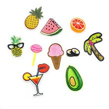 hot embroidery patches applique iron on fruit food drinks patches for clothing iron-on transfer patch stickers for clothes(China) Custom Patches, How To Iron Clothes, Orange Pattern, Eco Friendly Fashion, Embroidery Patches, Iron On Transfer, Fruit Recipes, Iron On Patches, Fruit Food