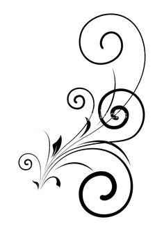 Swirl Floral Shape Vector Design