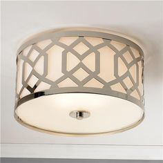 "Modern Trellis Ceiling Light- $350- 16""Wx9""H (also in aged brass)"