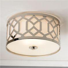 "Modern Trellis Ceiling Light- $350- 16""Wx9""H (also in aged brass)"
