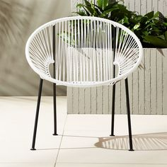 Ixtapa White Pvc Lounge Chair + Reviews | CB2 Outdoor Rocking Chairs, Modern Outdoor Furniture, Outdoor Lounge, Patio Chairs, Rustic Furniture, Lounge Chairs, Antique Furniture, Furniture Chairs, Adirondack Chairs