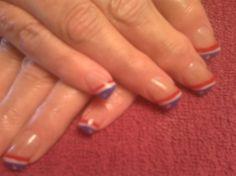 Red, White & Blue by nailsbyamy - Nail Art Gallery nailartgallery.nailsmag.com by Nails Magazine www.nailsmag.com #nailart