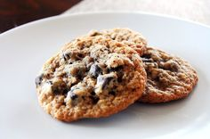 Oatmeal Dark Chocolate Chip Cookies (with Flax)