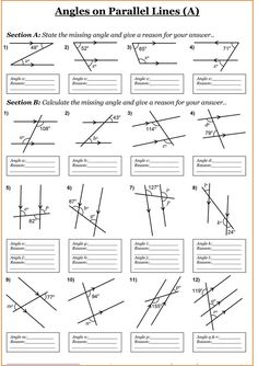 Angles Year 7 Maths Worksheets » Printable Coloring Pages For Kids