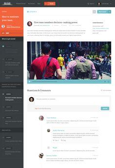 #Flat Articulate #Web Layout | #design #modern #orange #black #clean #mobile #ui #ux