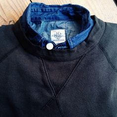 Collar under pullover to me is equivalent to the female wardrobe's ribbon to a guy. Just want to toy with it.
