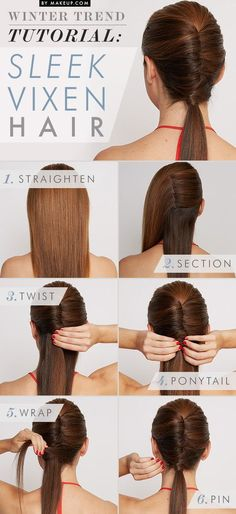 Winter Trend Tutorial: Sleek Vixen • Makeup.com - Looking for Hair Extensions to refresh your hair look instantly? http://www.hairextensionsale.com/?source=autopin-thnew