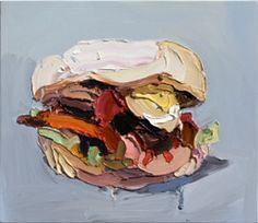 I'm hungry. Burger with the lot by Ben Quilty - Artwork Painting Inspiration, Art Inspo, Define Art, Australian Artists, Illustration Art, Food Illustrations, Art Studios, Art Tutorials, New Art