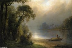 Soirée sous les tropiques, huile sur toile de Frederic Edwin Church (1826-1900, United States)