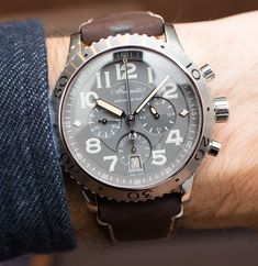 """Breguet Type XXI 3817 Watch Hands-On - by Ariel Adams See more of this awesome piece at: aBlogtoWatch.com """"At Baselworld 2016, Breguet debuted a new 'line extension' of their Type XXI with the reference 3817ST/X2/3ZU 2016 Breguet Type XXI 3817 that bears a vintage-style dial with light tan coloring accents. This is my favorite line of watches from Breguet at this time, and like sister brand Blancpain at The Swatch Group, I continue to urge that these two brands market their great..."""""""