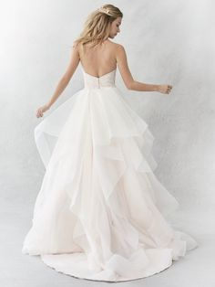 Ella Rosa Style BE361   beaded bodice with flowy skirt   romantic wedding dress   bridal gown