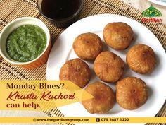 Having Monday blues? Khasta kachori can make your day. Gujarati Thali, Monday Blues, Foodies, Muffin, Breakfast, Instagram, Morning Coffee, Muffins, Cupcakes