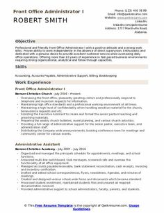 Office Manager Resume, Project Manager Resume, Job Resume, Assistant Manager, Dental Assistant, Resume Pdf, Sample Resume Templates, Resume Format, Free Resume