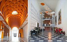 Louwman collection, Holland's museum of rare cars.  Look at this ceiling! I love it!