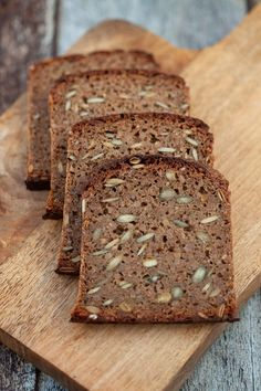 Try this excellent danish rye bread recipe. It's a dark rye bread with a soft and dense crumb full of delicious moist seeds. Danish Bread Recipe, Dark Rye Bread Recipe, Danish Rye Bread, Rye Bread Recipes, Healthy Bread Recipes, Sourdough Recipes, Danish Recipes, Danish Cuisine