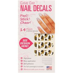 Southern Miss Golden Eagles Game Day Nails - $4.99