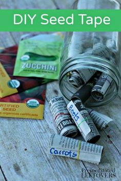 This DIY seed tape makes a great activity for the kids, especially if winter weather has you stuck indoors. Even before springtime planting rolls around you can spend some time prepping for your garde