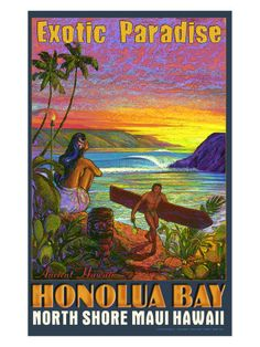 Hawaiian Travel Ads (Vintage Art) Posters at AllPosters.com