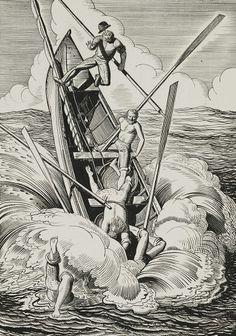 Illustration for 1930 Moby Dick edition // by Rockwell Kent