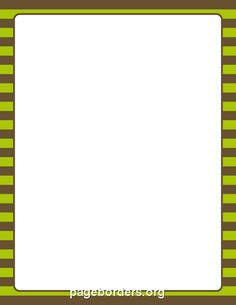 Printable brown and green striped border. Use the border in Microsoft Word or other programs for creating flyers, invitations, and other printables. Free GIF, JPG, PDF, and PNG downloads at http://pageborders.org/download/brown-and-green-striped-border/