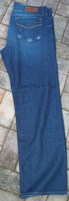 Lucky Brand Dakota Slim Bootleg 38 X 34 Men's Dark Wash Denim Jeans Euc - Jeans
