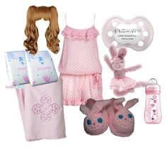 """""""ABDL Sleep outfit"""" by sweet-sugar-dragon ❤ liked on Polyvore featuring Forever 21, Sumersault, Jellycat, women's clothing, women's fashion, women, female, woman, misses and juniors"""