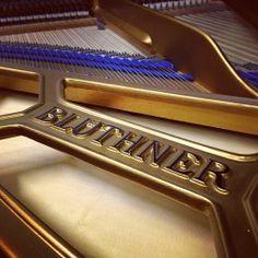 Bluthner grand piano frame www.shacklefordpianos.com