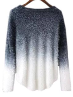 Shop Grey Ombre Round Neck Mohair Sweater online. SheIn offers Grey Ombre Round Neck Mohair Sweater & more to fit your fashionable needs.