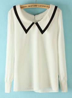 Shop White Lapel Long Sleeve Back Buttons Blouse online. SheIn offers White Lapel Long Sleeve Back Buttons Blouse & more to fit your fashionable needs.