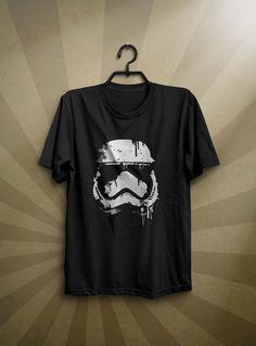 Black T-shirt Star Wars Stormtrooper Men's T-shirt Size S-XXL