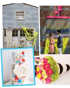 Queensland Brides -Nothing creates more of a party atmosphere than neon, and if you're aiming for a more celebratory, relaxed atmosphere this could be an amazing set of colours for your wedding!