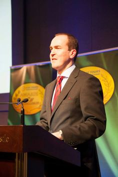 2014 Awards: Stephen Cotter, General Manager at CIE Tours International, Dublin addresses the crowd at the 2014 CIE Tours Awards of Excellence. Photo: John Ohle. #cieawards — at Dublin Castle.
