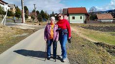 s maminkou na jarnej prechadzke v Hybicah 2018