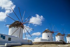 Mykonos windmills, Cyclades Archipelago, Greece. ANIA W PODRÓŻY travel blog and photography