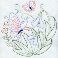 Vintage Embroidery Designs Machine Embroidery Designs at Embroidery Library! Embroidery Transfers, Machine Embroidery Patterns, Embroidery Applique, Cross Stitch Embroidery, Embroidery Sampler, Lazy Daisy Stitch, Butterfly Embroidery, Vintage Embroidery, Embroidery Techniques