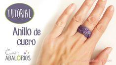 Como hacer un anillo de cuero Tutorial de Cuenta Abalorios. www.cuentaabalorios.com
