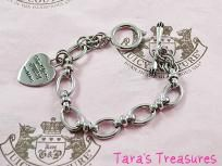 JUICY COUTURE Starter Heart Charm Bracelet Silver~New~Ships Free!!