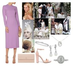 """Attending Pippa Middleton's wedding to James Matthews"" by princessmillicent ❤ liked on Polyvore featuring Emilia Wickstead, Valextra, Steve Madden, Mark Broumand, Blue Nile and Cartier"