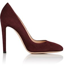 Gianvito Rossi Women's Roma Pumps (43.275 RUB) ❤ liked on Polyvore featuring shoes, pumps, colorless, burgundy shoes, burgundy suede pumps, burgundy pumps, clear shoes and clear pumps