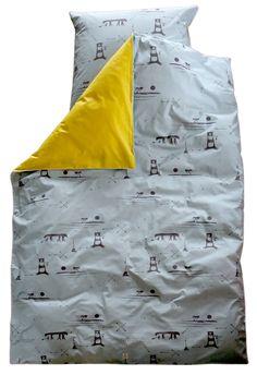 The Great Adventure Bedlinen Set, teal | Textiles | pleased to meet