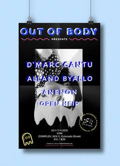 Learn how to brand yourself and create a professional identity in poster handbill and digital promotion for out of body designed by mariah tiffany colourmoves