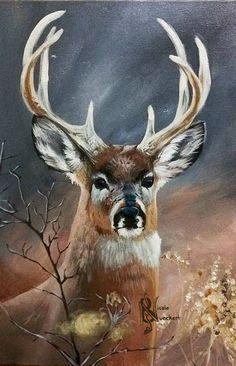Whitetail Buck by Kuvari on DeviantArt – Animals Wildlife Paintings, Wildlife Art, Animal Paintings, Animal Drawings, Deer Paintings, Whitetail Deer Pictures, Deer Sketch, Mini Mundo, Deer Drawing